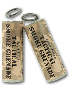 Tactical smoke grenade for paintball and airsoft